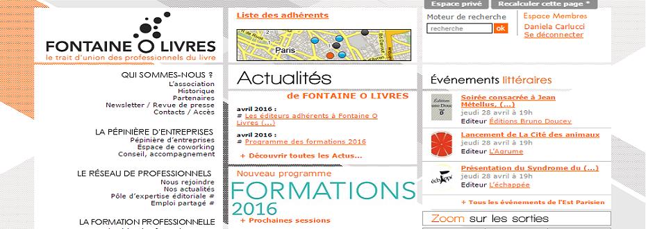 Agenda Litt' : Site Fontaine O Livres