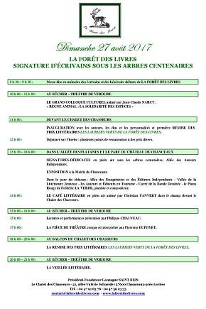 Agenda Litt' : La Forêt des Livres 2017